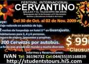 Viaje al Cervantino a solo $990 x persona