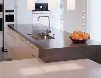 Corian, cusoni, placas, encimeras, cubiertas de superficie solida y granito para cocina integral, cobanipa.