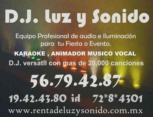 Servicio de renta de luz y sonido con dj desde $1490 contrata al 56794287