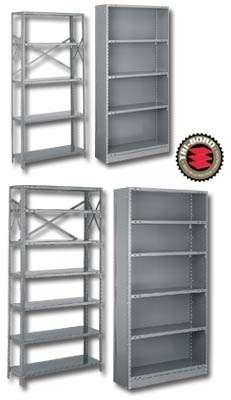"""Estanterías industriales de acero - uso ligero (48 x 24 x 85"""") o (121.9 x 60.9 x 215.9 cm)"""