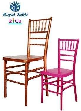 Sillas para fiestas infantiles. venta y renta: silla tiffany® kids *royal table*