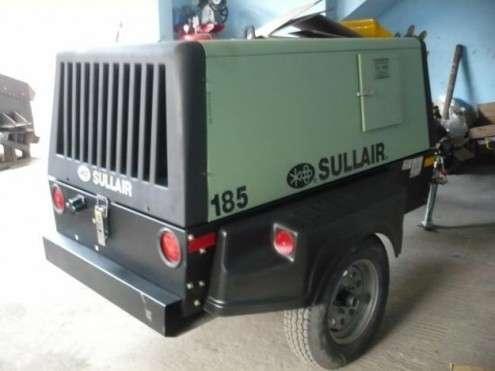 Compresor sullair de aire - 185 pcm - diesel - incluye remolque
