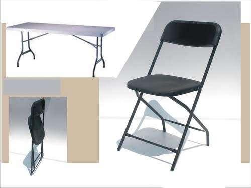 Lote de mesas y sillas p/eventos 100% nuevo!!