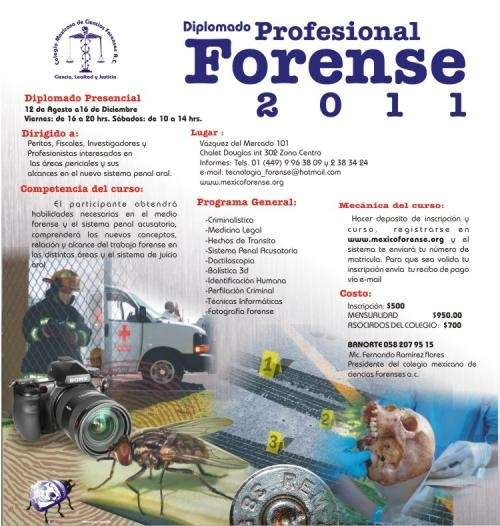 Ciclo de cursos y diplomados forenses del colegio mexicano de ciencias forenses