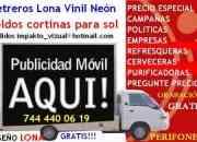 VALLAS MOVILES 7444400619 ACAPULCO PUBLICIDAD $800 DIA RENTA MES LONA DISEÑO PERIFONEO GRABACIÓN GRATIS