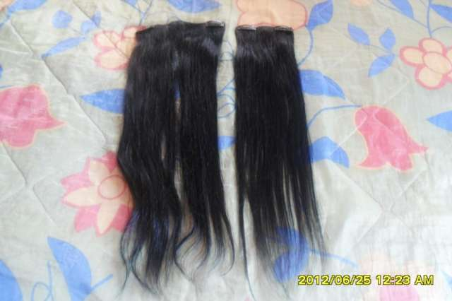 Extenciones de cabello 100%natural en negro