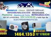 Reparacion , instalacion y mantenimiento de minisplit
