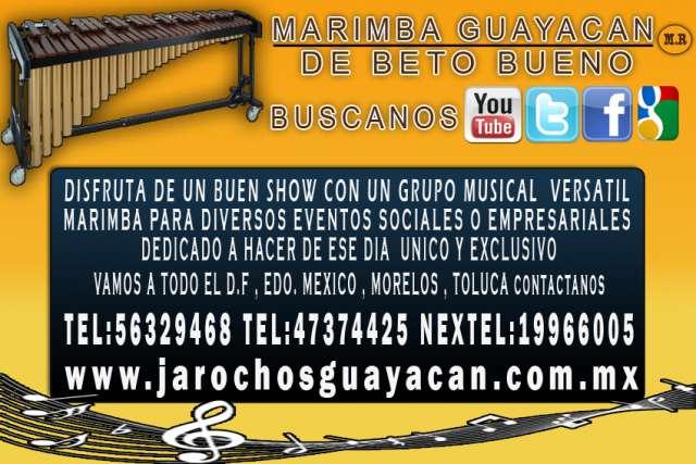 Marimba en morelos - llama al 56329468 4 voces 4 integrantes