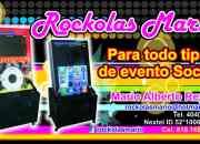 Rockolas mario en renta con karaoke & luz laser