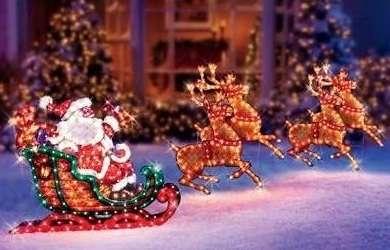 Adornos navideños. santa en trineo. artículos importados