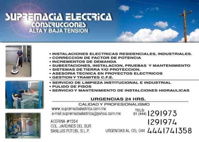 Instalaciones electricas, subestaciones y electricistas