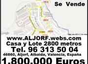 CIUDADANIA ESPAÑOLA. CASA 2800 mts de TERRENO. 500 mts CONSTRUIDOS. 2 niveles. Jardin. 5 habitaciones. 2 baños. Gran cocina con alacena del tamaño de la cocina Y MAS.  URBANIZABLE. Para construir 80