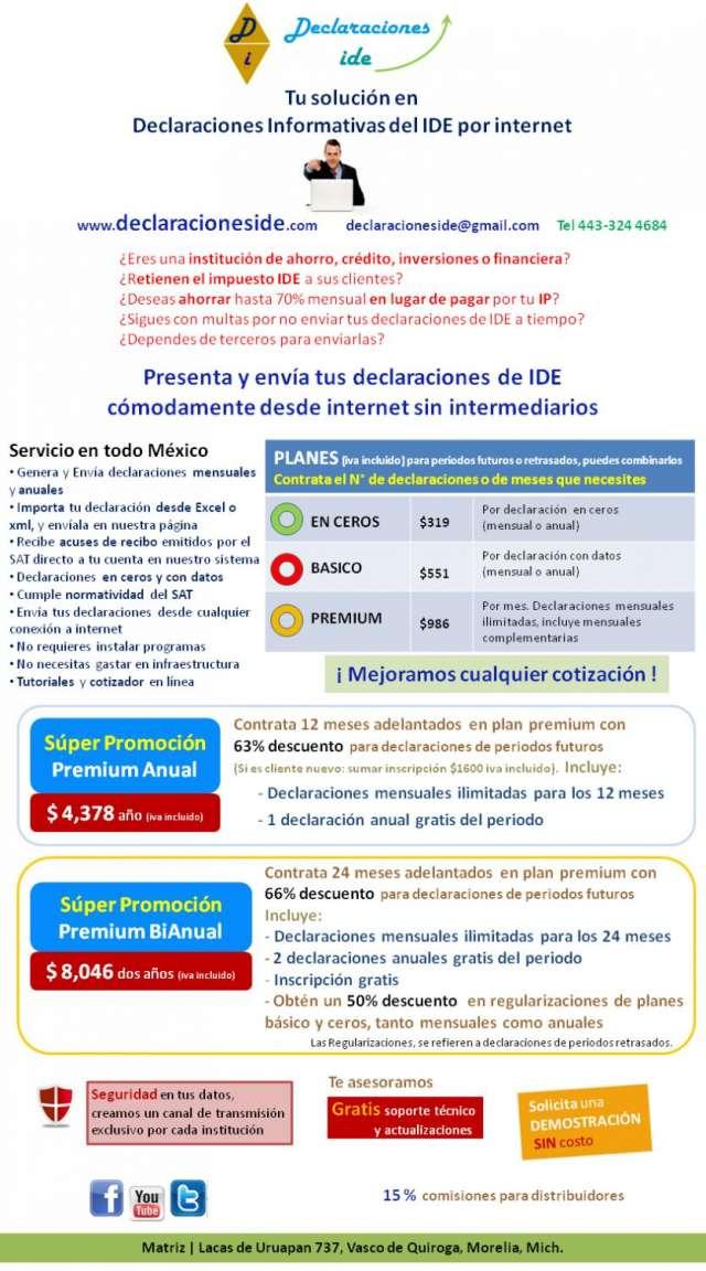 Declaraciones del impuesto ide via internet