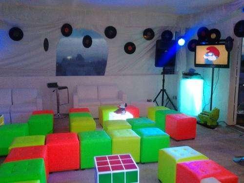 Mobiliario lounge salas y periqueras en renta y en venta