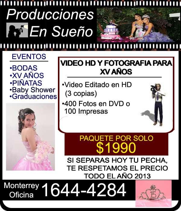 Video y fotografia en monterrey para bodas y xv años