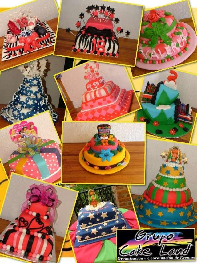 Pasteles de fondant para bodas, xv años, bautizo, aniversarios, etc