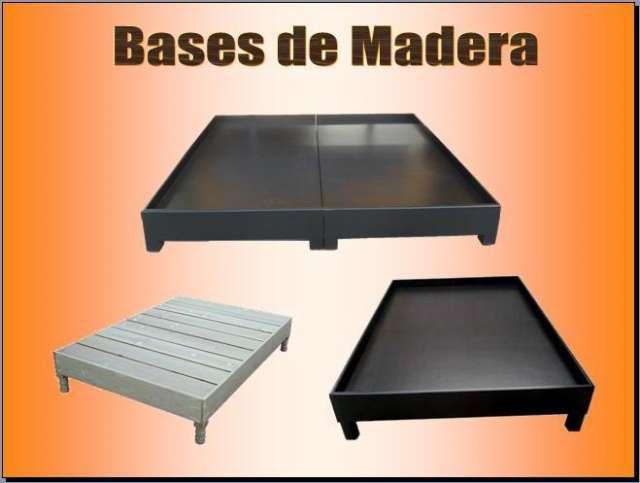 Bases De Cama. Trendy Base Para Cama Toda En Madera Cajones Zapatera ...