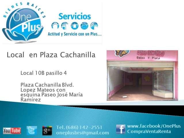 Se renta local en plaza cachanilla, mexicali, b.c.