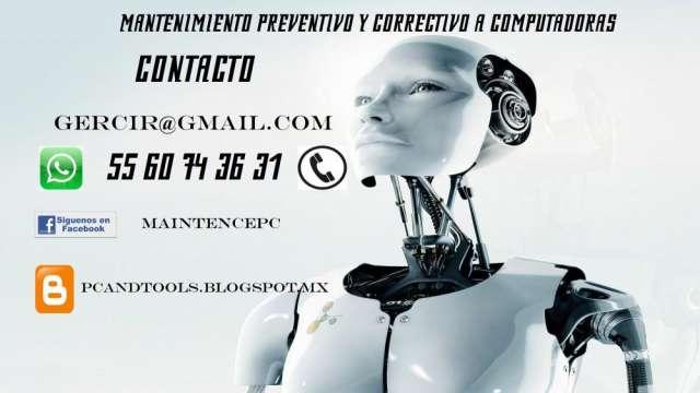 Mantenimiento preventivo y correctivo a computadoras