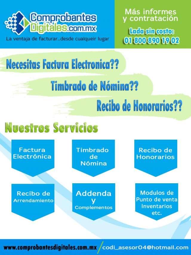 Factura electronica y recibos de nomina cfdi en mexico