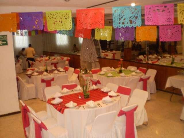 Salon coyoacan con banquete