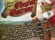 SHOWS FIESTAS PATRIAS, 15 DE SEPTIEMBRE: Personajes,zanqueros, show de fuego