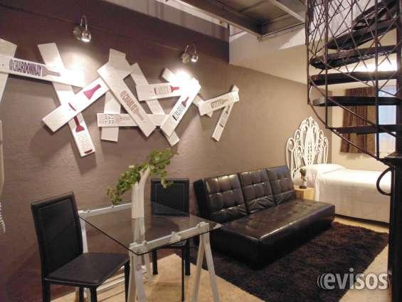 Suite de dos niveles para 4 personas en renta por noche semana o mes. col. florida