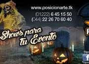 Shows para Halloween: zanqueros, catrinas, danza aérea, show de fuego, cuentacuentos, dj