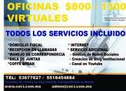 RENTA DE OFICINAS  FÍSICAS  CON EXCELENTE INSTALACIONES CONTACTANOS PARA MAYORES INFORMES