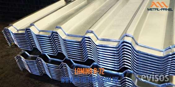 Lamina acanalada r72 (r-72) de acero tijuana
