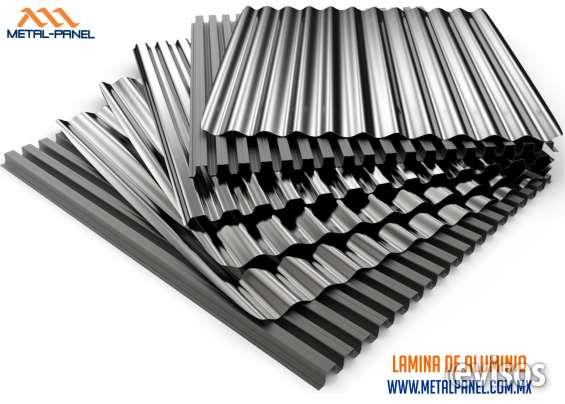 Lamina acanalada de aluminio e inoxidable tijuana