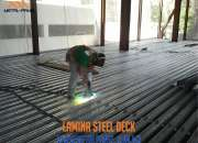 Lamina acanalada steel deck (losacero) de acero Ensenada