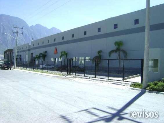 Bodega aaa de 2600 o 1300 m2 en renta en el parque industrial martel de santa catarina