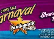 Show de Batucada, zanqueros, bailarinas, comparsas: Carnaval, desfiles, eventos