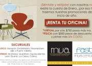 Últimos días de oferta en renta de oficinas
