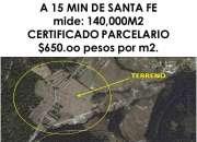 VENDO 14 HECTAREAS A 15 MIN DE SANTA FE