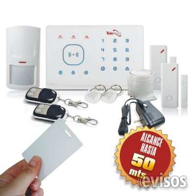 Kit alarma inalámbrica, alertas por celular gsm