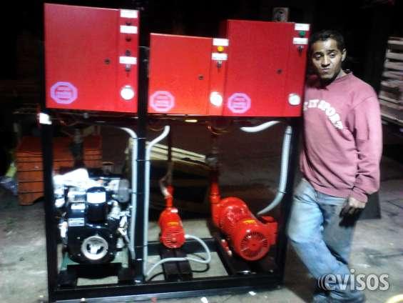 Bombas motores presurizadores variadores de frecuencia equipos contra incendio