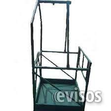 Venta de canastilla de trabajo soporta cargas de 300 kgs fabricación en tubo de cedula n°3