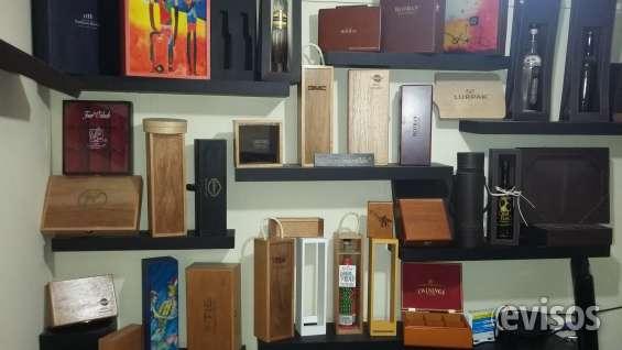 Estuches de madera y cajas de madera para articulos promocionales