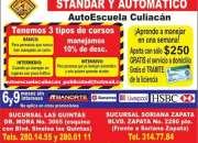 Aprende a conducir con la mejor escuela de manejo en culiacan