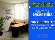 PROMOCIÓN DE TEMPORADA! Oficinas Físicas Todo Incluido sin pago de Depósito