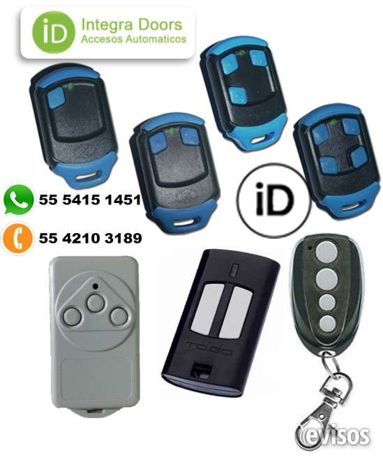 Controles remoto para puerta automatica aster