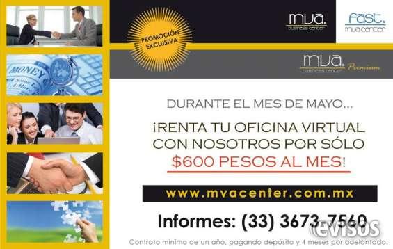 ¡ promoción ! oficinas virtuales con servicios incluidos a sólo $600 al mes