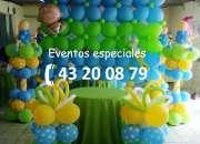 Decoración con globos para xv años, bodas, bautizos, cumpleaños, inauguraciones, etc.
