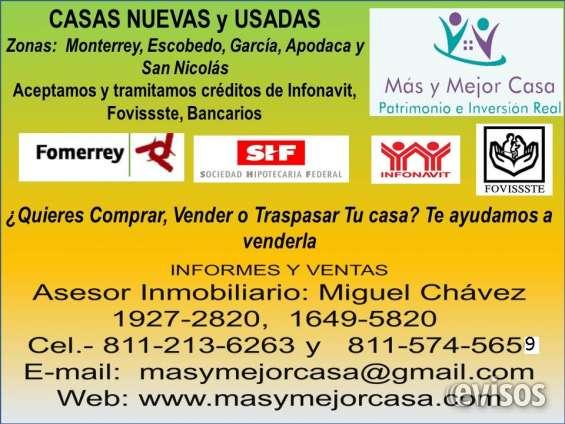 Casas en monterrey y área metropolitana de 2, 3, y 4 recámaras desde $ 380,000.00