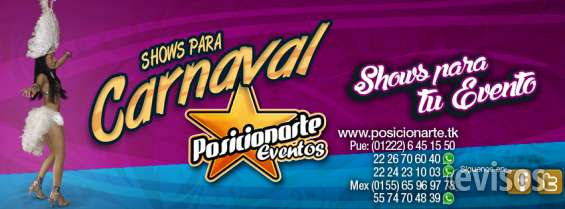 Batucada, zanqueros, bailarinas, comparsas: shows para carnaval..