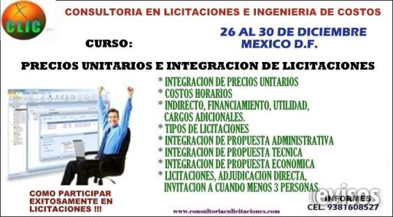 Curso de precios unitarios e integracion de licitaciones