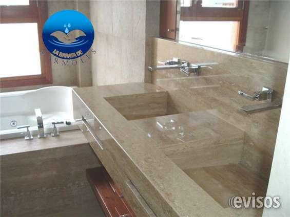 Lavabos minimalista de mármol para baño en Aculco - Muebles | 645941