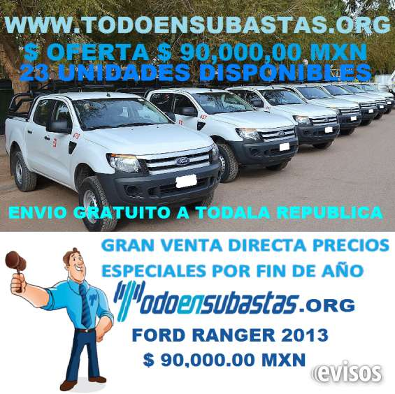 Ford ranger 2013 23 unidades disponible